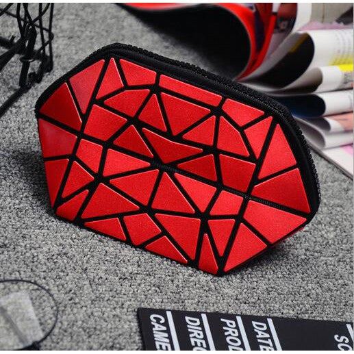 Ougeya Cosmetic bag PVC zipper makeup bagsfold new Lingge makeup handbags
