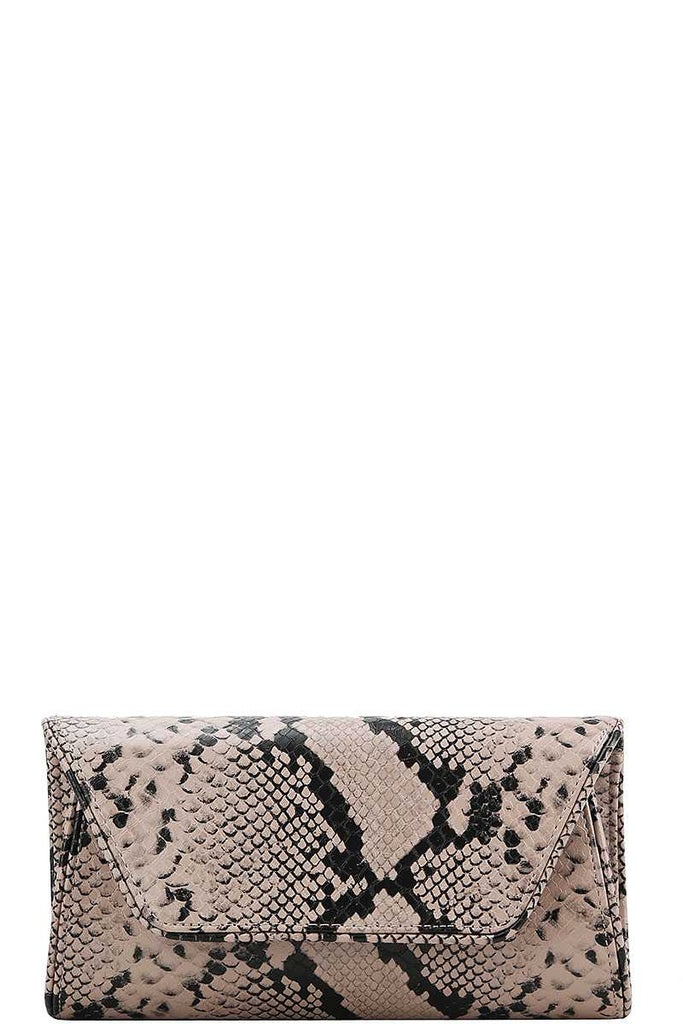 Cute Python Pattern Clutch Cross Body