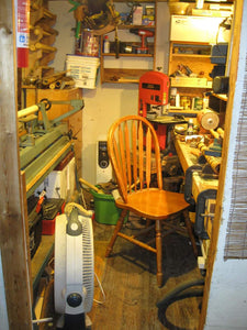 My old work shop was quite small but I loved it.
