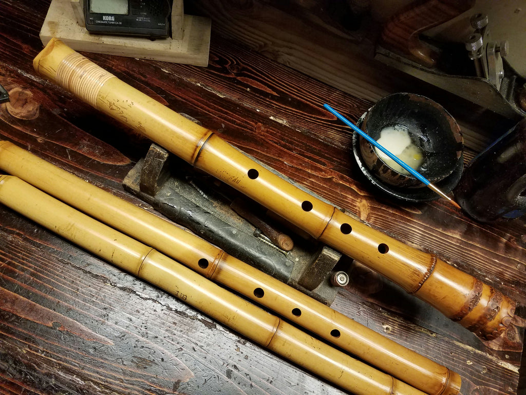 A root end shakuhachi I made.
