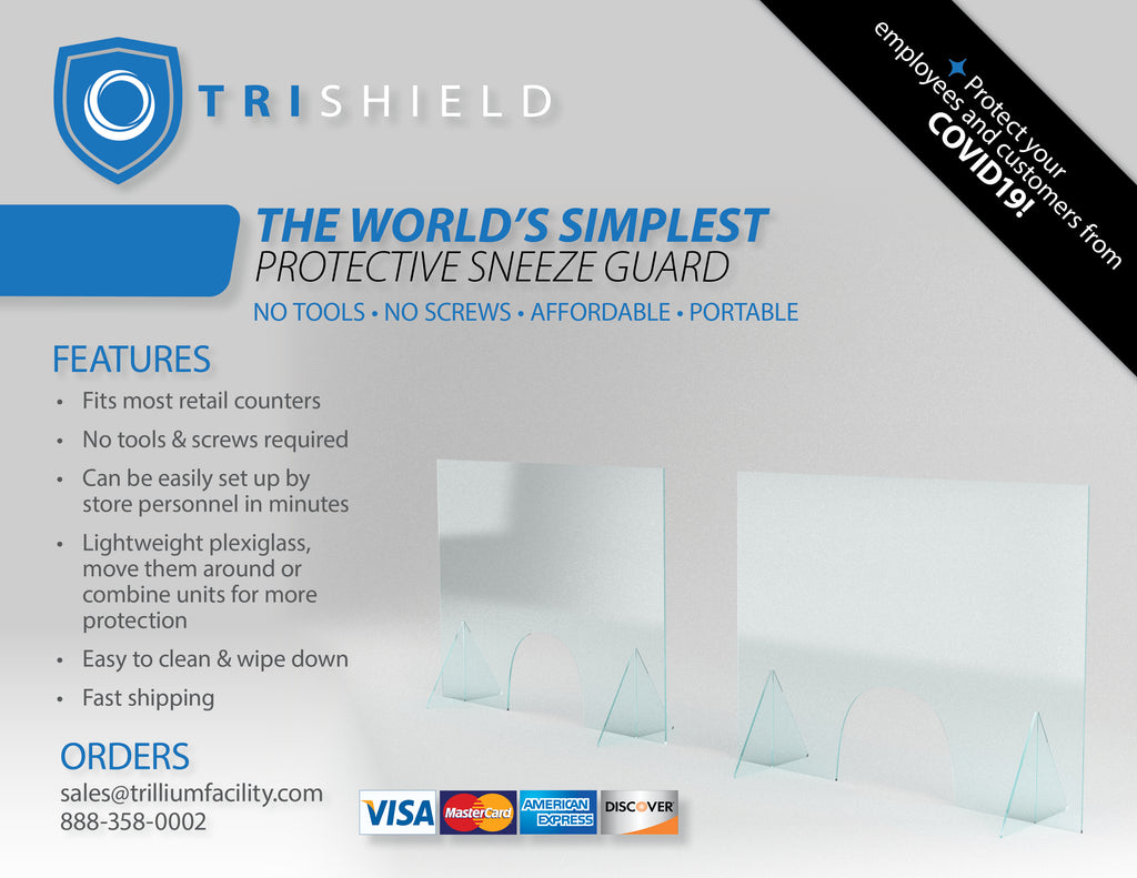 Sneeze guards for countertops