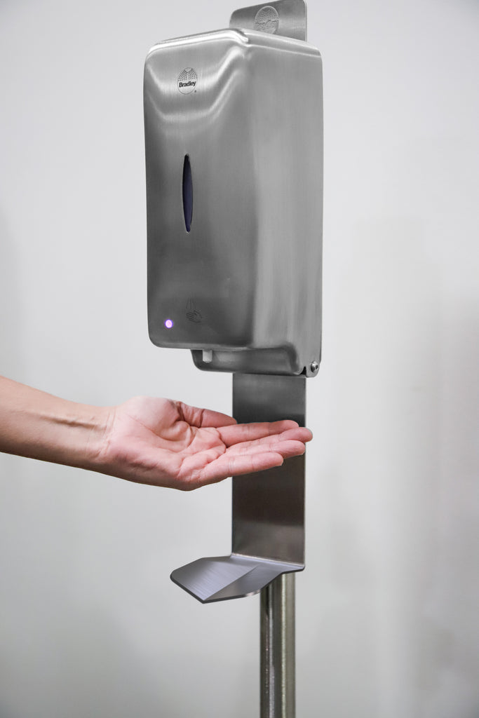 Bradley Hand Sanitizer Dispenser with Stand | USA Made