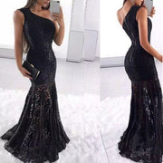 Sexy Strapless Bodycon Fishtail Evening Dress
