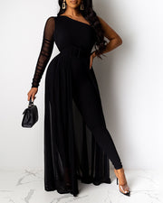 Fashion Solid Color Casual Banquet Jumpsuit