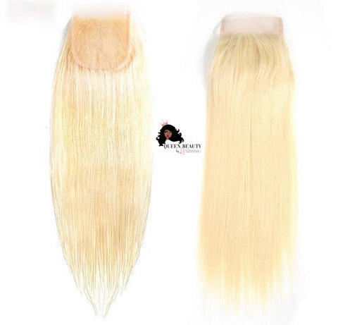 Queen Straight 613 Transparent Lace Closure
