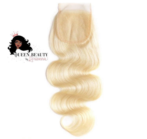 Queen Body Wave 613 Transparent Lace Closure
