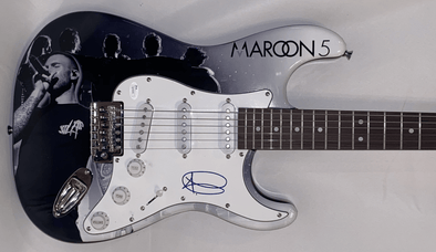Adam Levine of Maroon 5 Authentic Autographed Full Size Custom Electric Guitar - Prime Time Signatures - Music