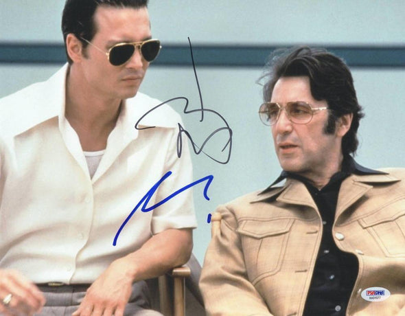 Al Pacino, Johnny Depp Authentic Autographed 11x14 Photo - Prime Time Signatures - TV & Film