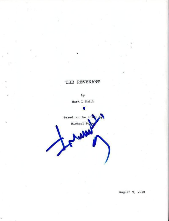 Alejandro González Iñárritu Authentic Autographed 'The Revenant' Script - Prime Time Signatures - TV & Film