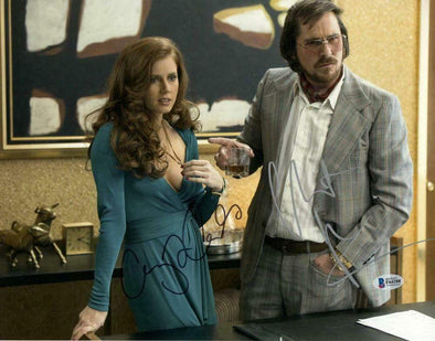 Amy Adams & Christian Bale Authentic Autographed 11x14 Photo - Prime Time Signatures - TV & Film
