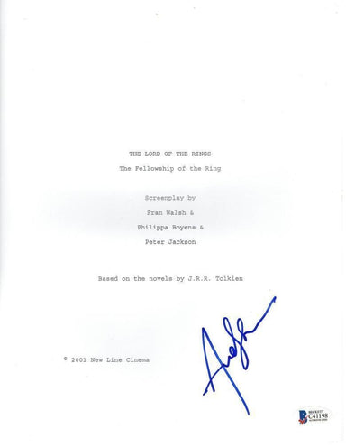 Andy Serkis Authentic Autographed 'Lord of the Rings' Script - Prime Time Signatures - TV & Film