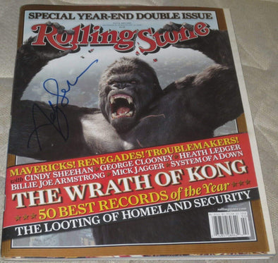 Andy Serkis Authentic Autographed Rolling Stone Magazine - Prime Time Signatures - TV & Film