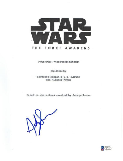 Andy Serkis Authentic Autographed 'Star Wars the Force Awakens' Script - Prime Time Signatures - TV & Film