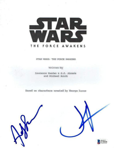 Andy Serkis, JJ Abrams Authentic Autographed 'Star Wars the Force Awakens' Script - Prime Time Signatures - TV & Film