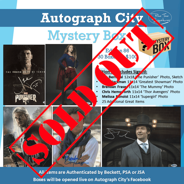 Autograph City Mystery Box: Edition 86: Sold Out - Prime Time Signatures -