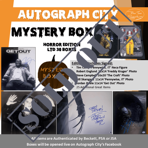 Autograph City Mystery Box: Edition 87: HORROR Edition: Sold Out - Prime Time Signatures -