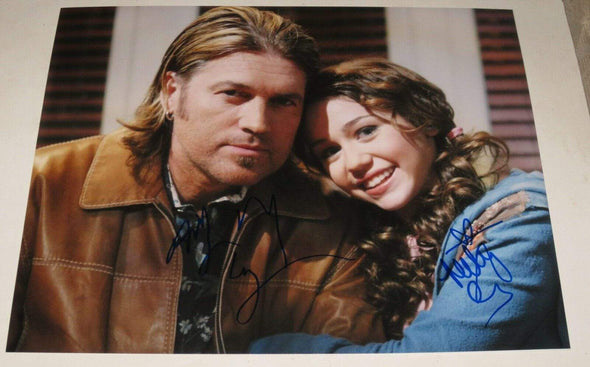 Billy Ray Cyrus, Miley Cyrus Authentic Autographed 11x14 Photo - Prime Time Signatures - Music