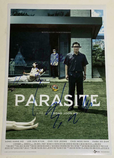 Bong Joon-Ho, Song Kang-Ho Authentic Autographed 'Parasite' 12x18 Photo Poster - Prime Time Signatures - TV & Film