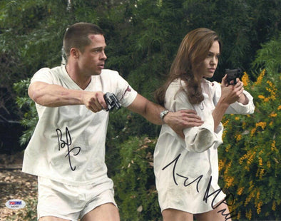 Brad Pitt, Angelina Jolie Authentic Autographed 11x14 Photo - Prime Time Signatures - TV & Film