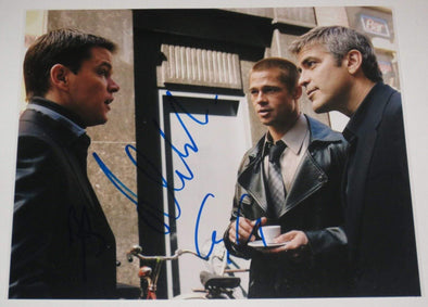 Brad Pitt, Matt Damon, George Clooney Authentic Autographed 8x10 Photo - Prime Time Signatures - TV & Film