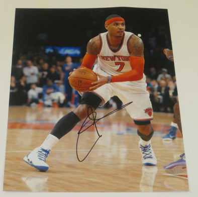 Carmelo Anthony Authentic Autographed 11x14 Photo - Prime Time Signatures - Sports