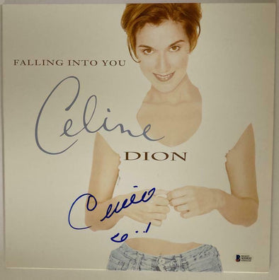 Celine Dion Authentic Autographed Vinyl Record - Prime Time Signatures - Music