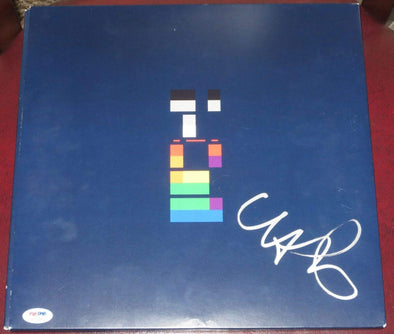 Chris Martin of Coldplay Authentic Autographed Vinyl Record - Prime Time Signatures - Music