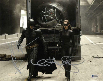 Christian Bale & Anne Hathaway Authentic Autographed 11x14 Photo - Prime Time Signatures - TV & Film
