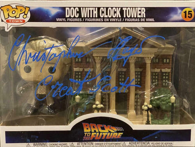 Christopher Lloyd Authentic Autographed Doc with Clock Tower Funko Pop! Town 15 - Prime Time Signatures - TV & Film