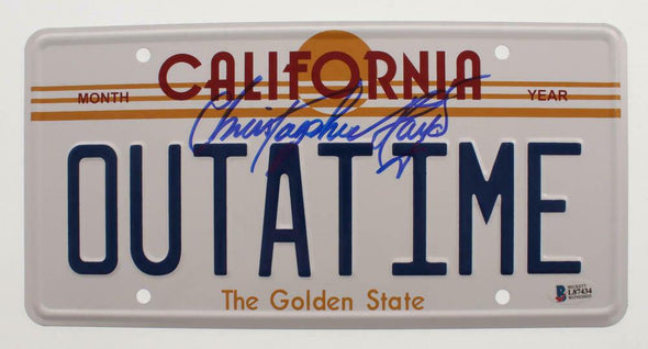 Christopher Lloyd Authentic Autographed OUTATIME License Plate - Prime Time Signatures - TV & Film