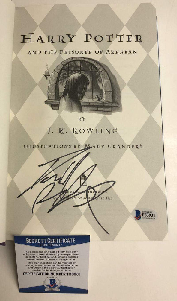 Daniel Radcliffe Authentic Autographed Harry Potter and the Prisoner of Azkaban Hardcover Book - Prime Time Signatures - TV & Film