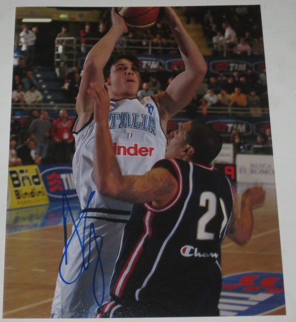 Danilo Gallinari Authentic Autographed 8x10 Photo - Prime Time Signatures - Sports