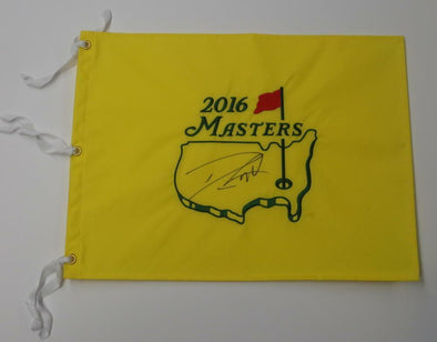 Danny Willett Authentic Autographed 2016 Masters Flag - Prime Time Signatures - Sports