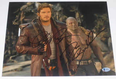 Dave Bautista, Chris Pratt Authentic Autographed 11x14 Photo - Prime Time Signatures - TV & Film