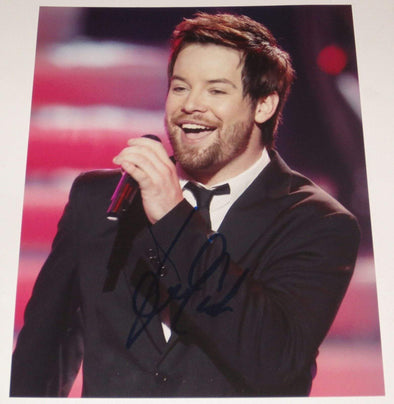 David Cook Authentic Autographed 8x10 Photo - Prime Time Signatures - Music