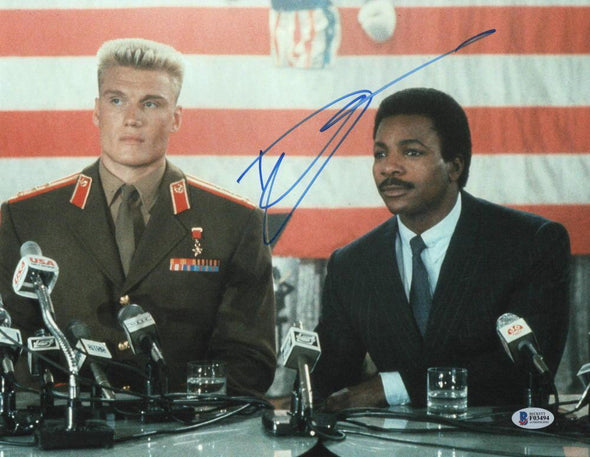 Dolph Lundgren Authentic Autographed 11x14 Photo - Prime Time Signatures - TV & Film