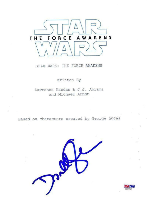Domhnall Gleeson Authentic Autographed 'Star Wars The Force Awakens' Script - Prime Time Signatures - TV & Film