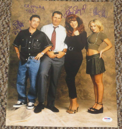 Ed O'Neill, Katey Sagal, Christina Applegate, David Faustino Authentic Autographed 11x14 Photo - Prime Time Signatures - TV & Film