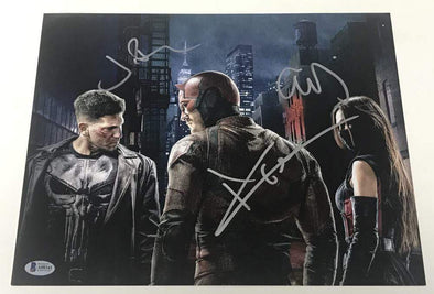 Elodie Yung, Jon Bernthal, Charlie Cox Authentic Autographed 11x14 Photo - Prime Time Signatures - TV & Film