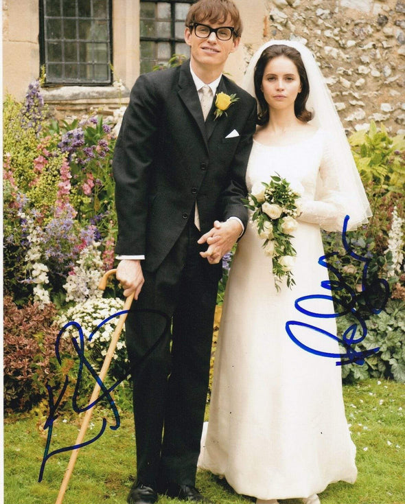 Felicity Jones, Eddie Redmayne Authentic Autographed 8x10 Photo - Prime Time Signatures - TV & Film