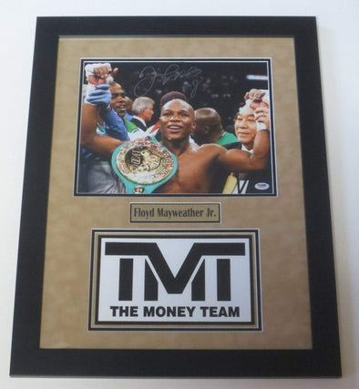 Floyd Mayweather Jr. Authentic Autographed 11x14 Photo, Professionally Framed - Prime Time Signatures - Sports