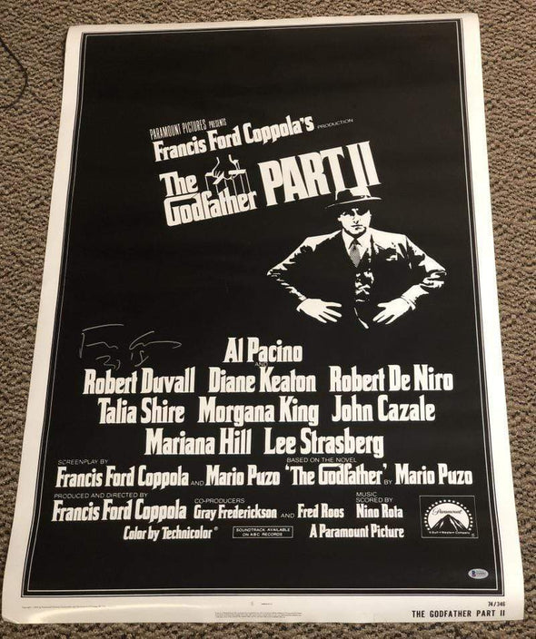 Francis Ford Coppola Authentic Autographed Full Size Poster - Prime Time Signatures - TV & Film