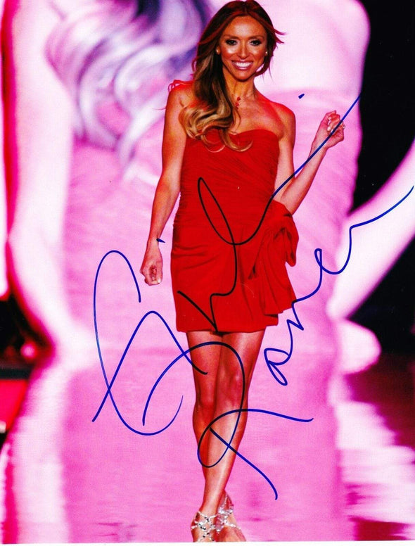 Giuliana Rancic Authentic Autographed 8x10 Photo - Prime Time Signatures - TV & Film