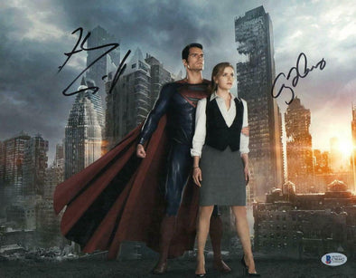 Henry Cavill & Amy Adams Authentic Autographed 11x14 Photo - Prime Time Signatures - TV & Film