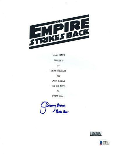 Jeremy Bulloch Authentic Autographed 'Star Wars Empire Strikes Back' Script - Prime Time Signatures - TV & Film