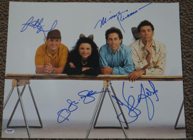 Jerry Seinfeld, Jason Alexander, Julia Louis-Dreyfus, Michael Richards Authentic Autographed 16x20 Photo - Prime Time Signatures - TV & Film