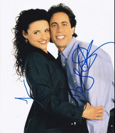 Jerry Seinfeld, Julia Louis-Dreyfus Authentic Autographed 8x10 Photo - Prime Time Signatures - TV & Film