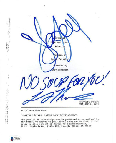 Jerry Seinfeld, Larry Thomas Authentic Autographed 'Seinfeld' Script - Prime Time Signatures - TV & Film