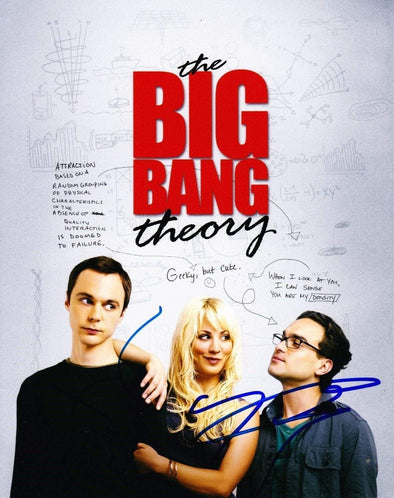 Jim Parsons, Johnny Galecki Authentic Autographed 8x10 Photo - Prime Time Signatures - TV & Film