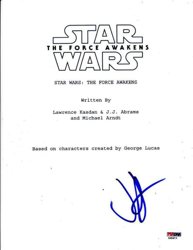 JJ Abrams Authentic Autographed 'Star Wars The Force Awakens' Script - Prime Time Signatures - TV & Film